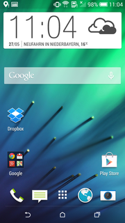 Cleaned up: The start screen of the HTC Desire is clearly structured.