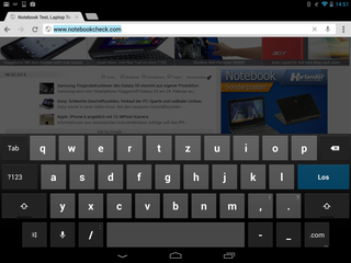 Keyboard (landscape mode)