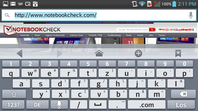 Keyboard landscape mode