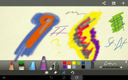 A nice gimmick that can be use to occupy the kids: The included paint app.