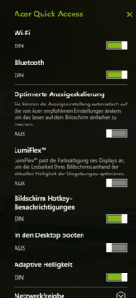 Acer Quick Access (German)