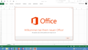 Preinstalled free version with option of upgrading to the full version: Office 2013.