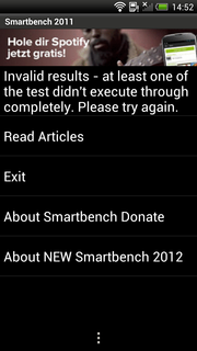 Smartbench 2011 did not work.