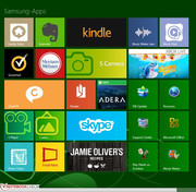 Samsung includes various preinstalled apps.