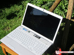 The Sony Vaio used outdoors