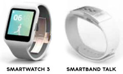 Sony SmartWatch 3 and SmartBand Talk renderings, wearables to be unveiled on September 4