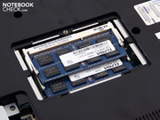 Both RAM chips can be accessed via a maintenance opening.