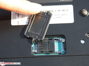 SIM card slot in the base plate (HSDPA model)