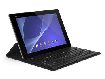 Sony Xperia Z2 Android tablet with Snapdragon 801 processor and keyboard dock
