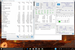 Stress test CPU ultimately settles at 900 MHz.