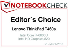 Editor's Choice in March 2016: Lenovo ThinkPad T460s