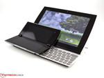 The Tablet P on top of Asus' Eee PC Slider SL101