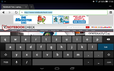 Android keyboard (landscape mode)