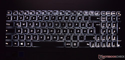 Keyboard - backlight on