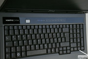 ... the Dell Vostro 1710 is equipped with a spacious keyboard ...