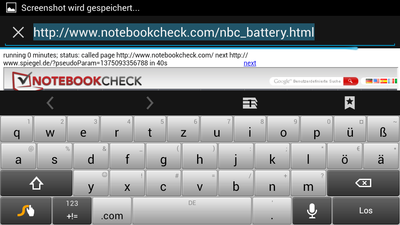 Android keyboard landscape mode