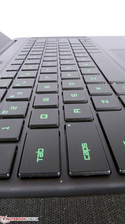 The keyboard provides a very convenient typing and gaming experience.