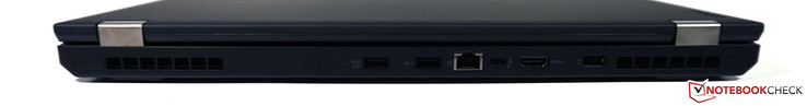 Back: 2x USB 3.0 (1x Always-On), Gigabit-Ethernet, USB 3.1 Type-C (Gen. 2)/Thunderbolt 3, HDMI 1.4, power