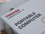 Toshiba puts every Portégé in a simple box.