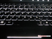 Lost in space: The space bar's illumination is very weak.