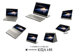 Toshiba Dynabook Kira L93 convertible has 7 usage modes, Haswell processor and Windows 8.1