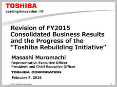 Toshiba is now 479.4 billion Yen in the red according to latest FY2015 report