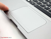 Touchpad: ClickPad with short stroke distance and heavy pressure point
