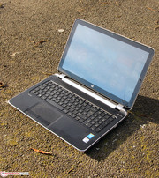 HP's Pavilion TouchSmart 15-n010sg outdoors.