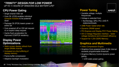 Improved power-saving should put Trinity at the same level as Intel's CPUs.