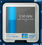 Up to 3.5 GHz via Turbo Boost