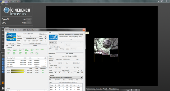 Intel's Turbo Boost activating as expected, overclocking the i5 2540M under high-stress applications.