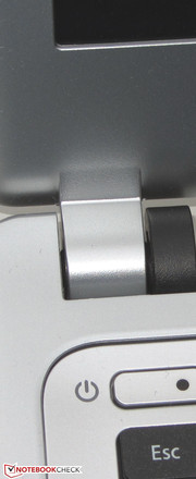 The hinges hold the lid securely in place.