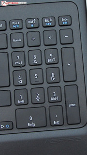 A separate number pad.