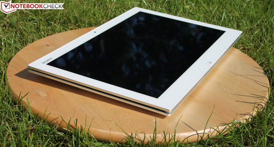 Sony Vaio Duo 13: With such a bright display, working in the sun is a lot more fun.