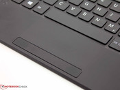 Touchpad - dotted surface; too short key drop