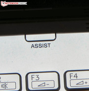 "Pressing the ""Assist"" button when the laptop is off.."