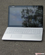 Sony's Vaio outdoors.