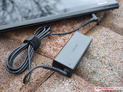 The 45 W power adapter provides sufficient power for this Core i5 system.