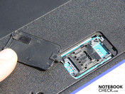 SIM card slot in the base plate (HSDPA-model)