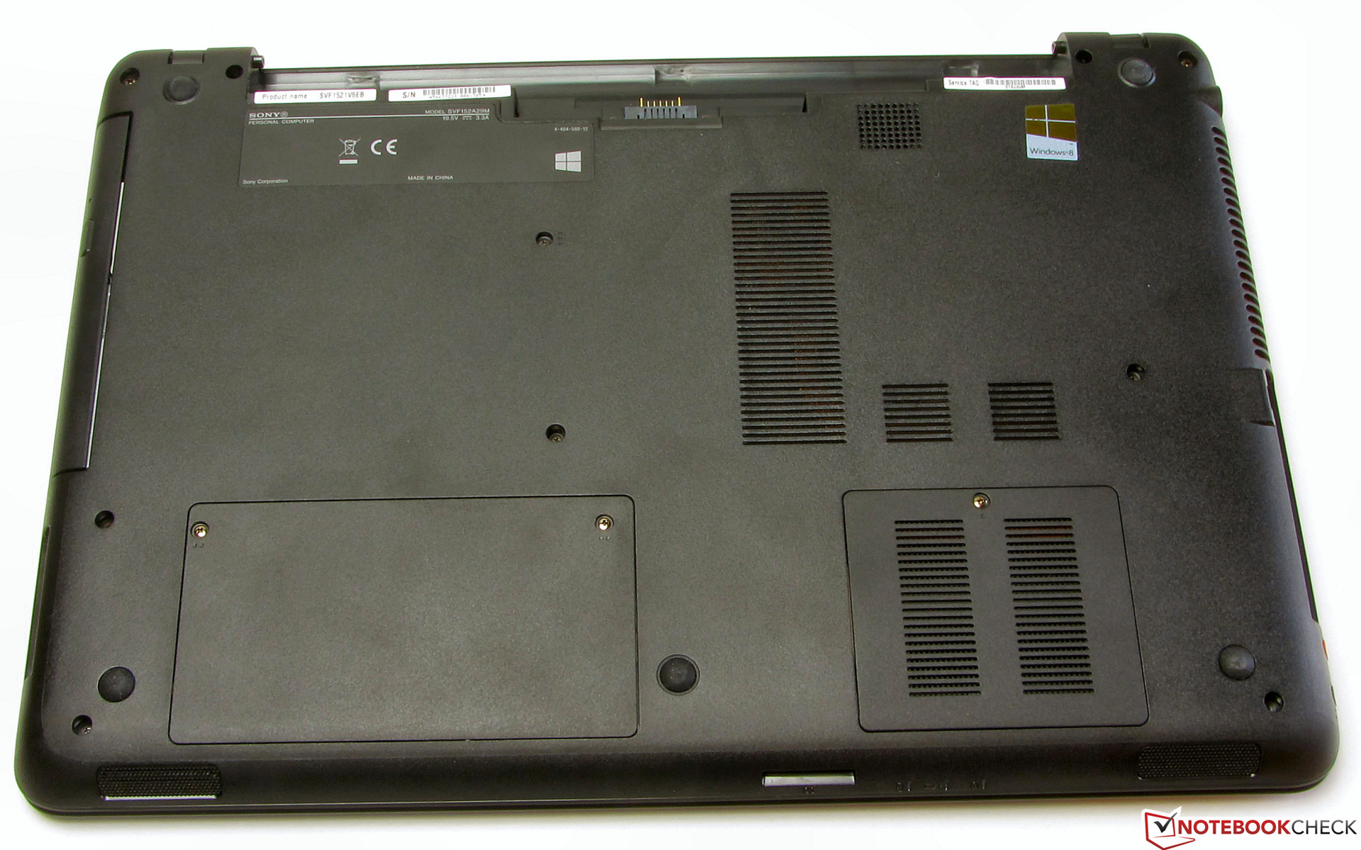 Review Sony Vaio Fit Sv F1521v6eb Notebook Reviews Logitech Webcam C300 Wiring Diagram There Are Two Small Maintenance Covers
