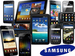 Samsung smartphones and tablets