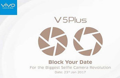 Vivo V5 Plus Android smartphone January 23 2017 launch invite flyer