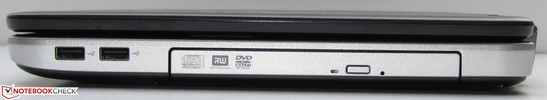 Right: DVD burner, 2x USB 2.0