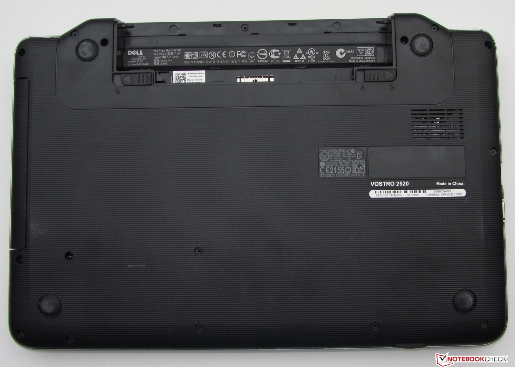 Review Dell Vostro 2520 Notebook Notebookcheck Net Reviews