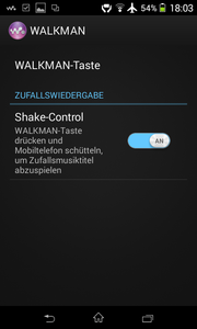 ...for activating Shake Control.