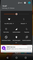 Quick settings and notifications