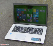 The Asus X750LN outdoors.