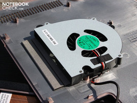 Suction fan on the base plate