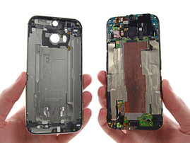 The unibody case accommodates the glued components. (Picture: iFixit)