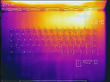 Temperature distribution top (idle)
